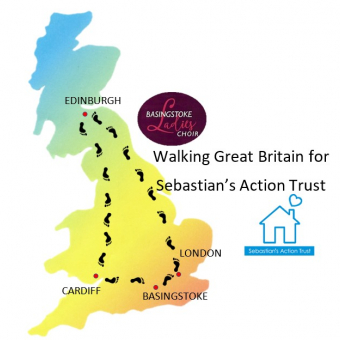 Basingstoke Ladies' Choir walk Great Britain for Sebastian's Action Trust